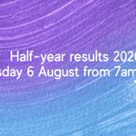 Image for the Tweet beginning: Our 2020 half-year results will