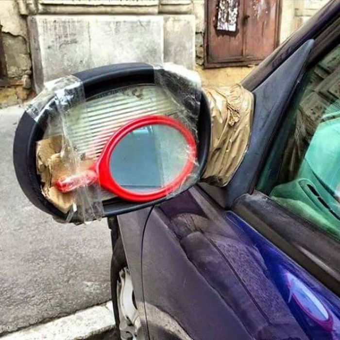Wonderful creativity here on this DIY project .. Thumbs up! For everyone else (who's not maybe that talented) – find a solution here: https://t.co/1F7OyMJPmZ #energizedcustoms #carparts #wingmirror #mirror #DIY https://t.co/wZvt1Vi42W