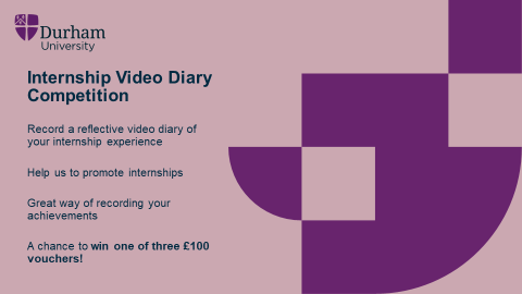 ***Attention @comp_sci_durham students*** If you are completing an internship this summer (even if its remote or virtual), there is still time to enter our Video Diary Competition! Help us to promote internships to future students... And you could win a £100 voucher!