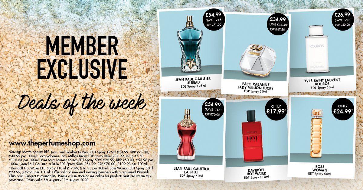 Member Exclusive Deals of the Week @ThePerfumeShop  5th - 11th August 2020 #Stay20 #theperfumeshop #tpsscpic.twitter.com/Id79ACi01z