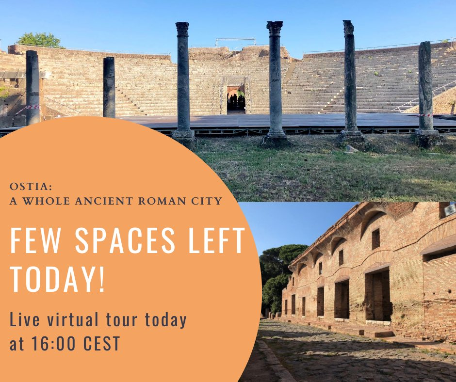 Book now your trip back in time! It takes one hour and it's free! Today at 16:00 CEST 1 hour #livetour of Ostia Antica http://livevirtualguide.com/book-now  #travelfromhome #armchairtravel #dreamnowvisitlater #virtualtour pic.twitter.com/mC9VZUQ14W