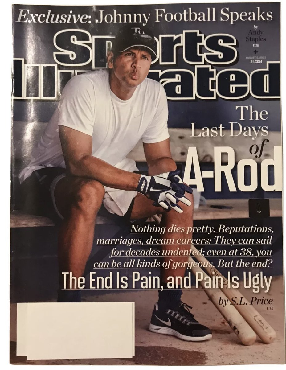 SI covers, seven years ago today:  @AROD is at rock bottom. Johnny Manziel is the envy of the college football world.   Today, A-Rod is as relevant as ever. Manziel achieves a flash of relevance by flipping off a building into a pool. https://t.co/tAlLWHjgRf