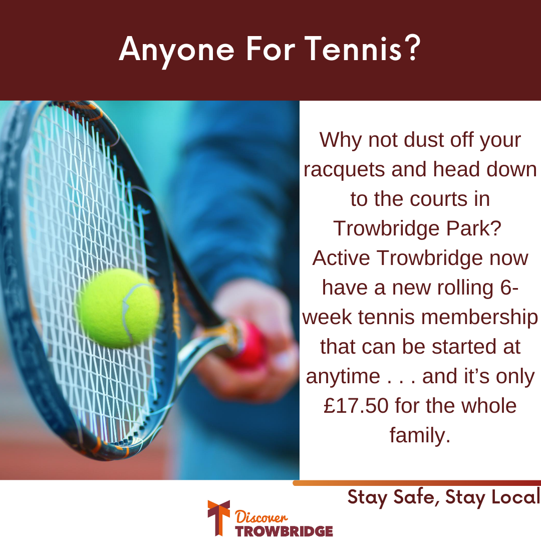 Are you are thinking about taking up tennis, looking to keep fit and keep the family occupied over the summer?  Look no further!   Find out all about our tennis membership offer here:  https://t.co/tXOYViQb4L  #discovertrowbridge #summer #keepfit #tennis https://t.co/SHWlVSW64g