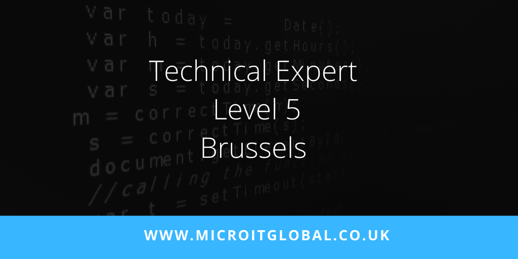 Looking for an experienced Technical Expert (To Level 5 ) to work in Brussels. Must have good knowledge of web applications design using Java technologies. For further details and to apply ⬇️  https://t.co/JmD3GUtfqv  #NewJob #TechnicalExpert https://t.co/3LwIXzlogM