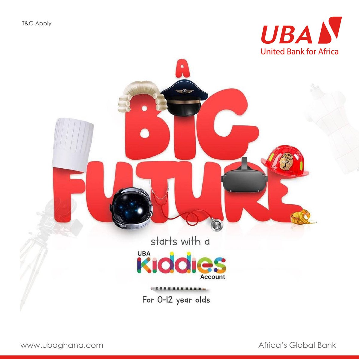 Secure a future for your kids. Start by creating a #UBAKiddiesAccount for them.  Click here to learn more: https://t.co/keWdUAPiDU. #StaySafe #LeoMagic #AfricasGlobalBank 🌍🇬🇭 https://t.co/GvBXP5DTJN