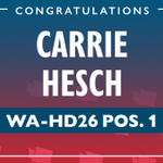 Image for the Tweet beginning: Congratulations @CarrieHesch for winning your