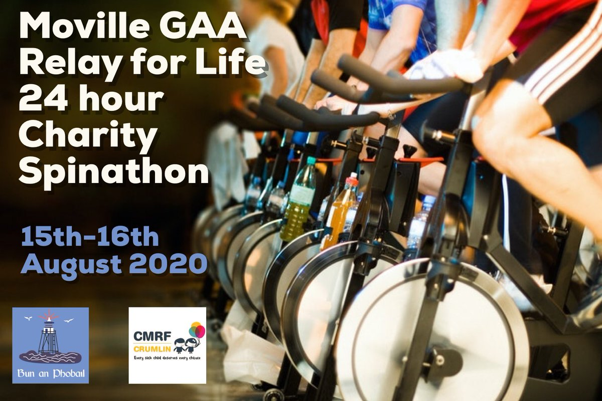 Sign up today for our 24 hour Spinathon - it's good for you, and even better for @CMRF_Crumlin 👍🏼!