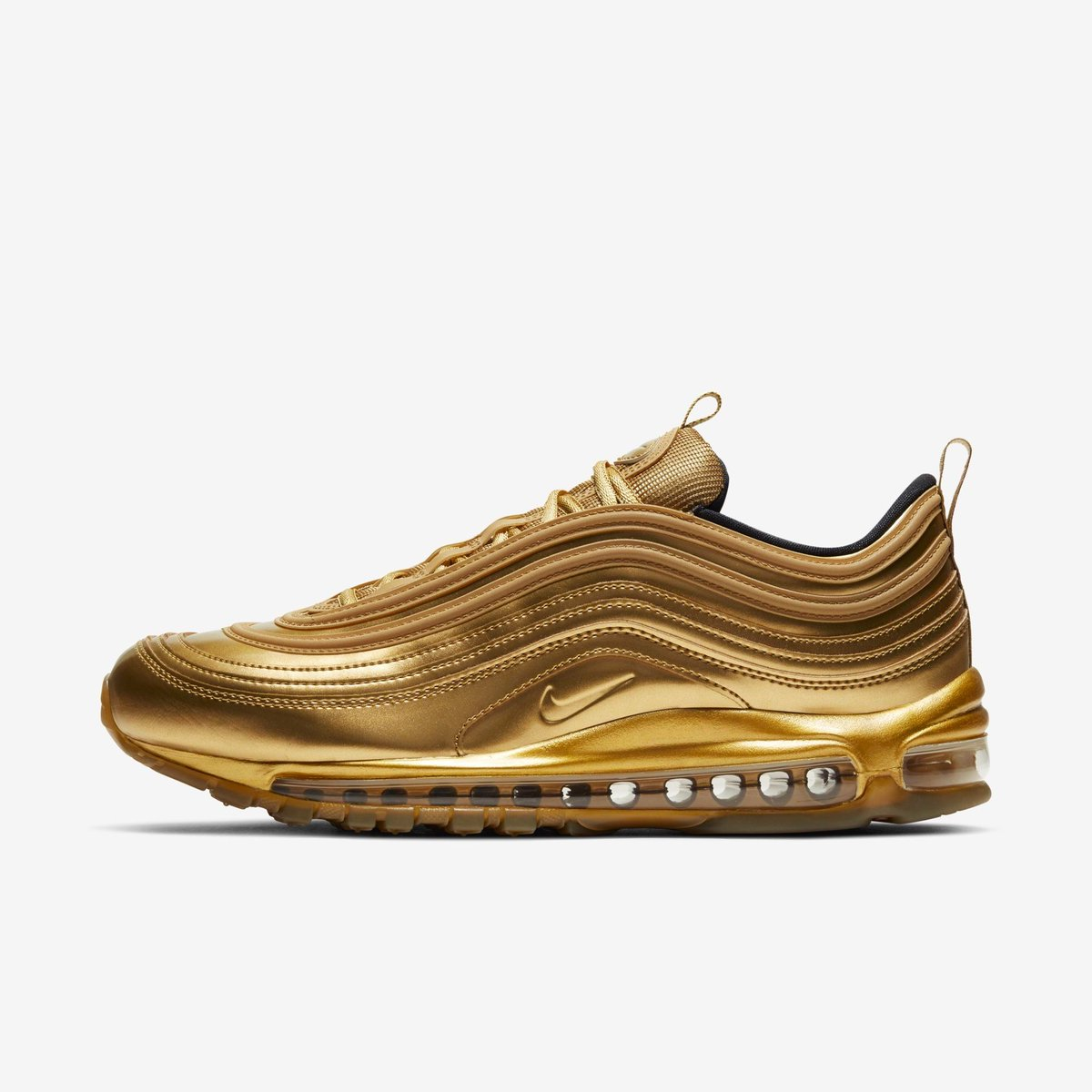 """Ad: The Nike Air Max 97 QS """"Gold Medal"""" is only $126 at YCMC! Use code NSGM30 in cart.     https://t.co/m18lkK9Vj2"""
