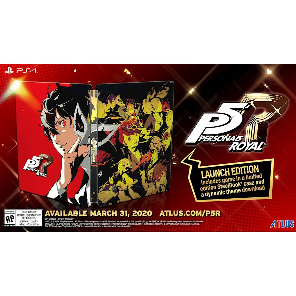 Persona 5 Royal Launch Edition Steelbook (PS4) is $39.99 at Best Buy 2
