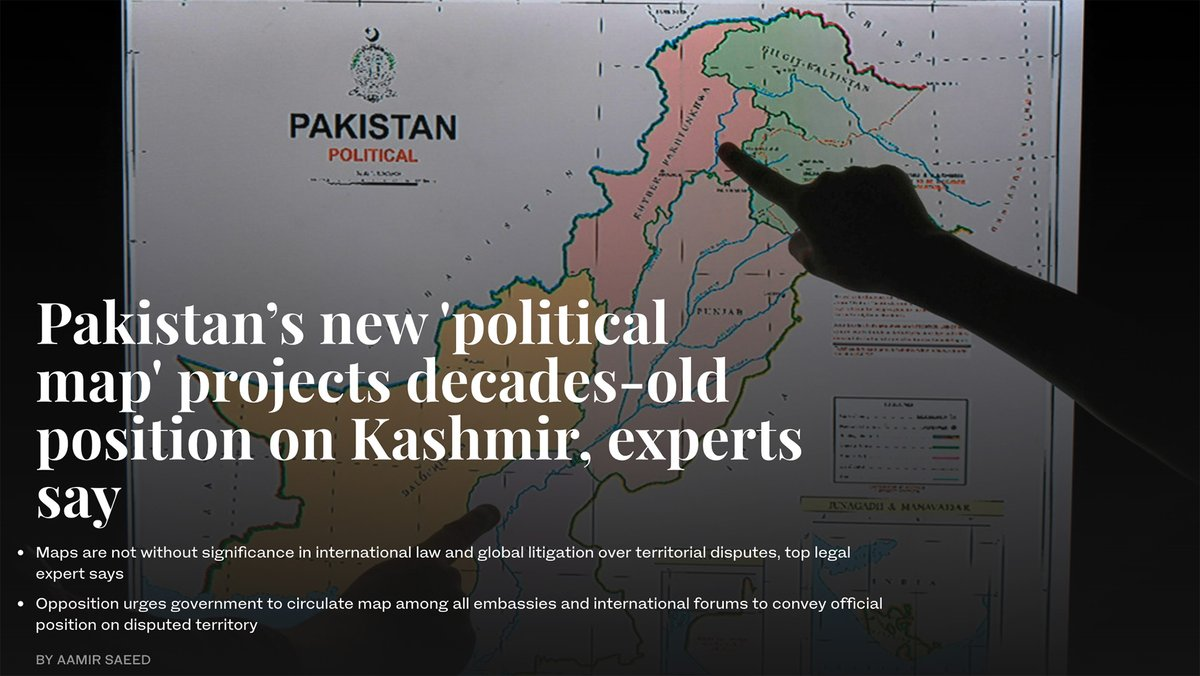 """""""#Pakistan has exercised its executive authority to document its position regarding its territorial dispute with #India,"""" top law expert tells #ArabNewsPK a day after PM #ImranKhan unveiled country's new political map. – Read special by @AamirSaeed_: https://t.co/QllHMnFxLs https://t.co/RoUQYXBboD"""