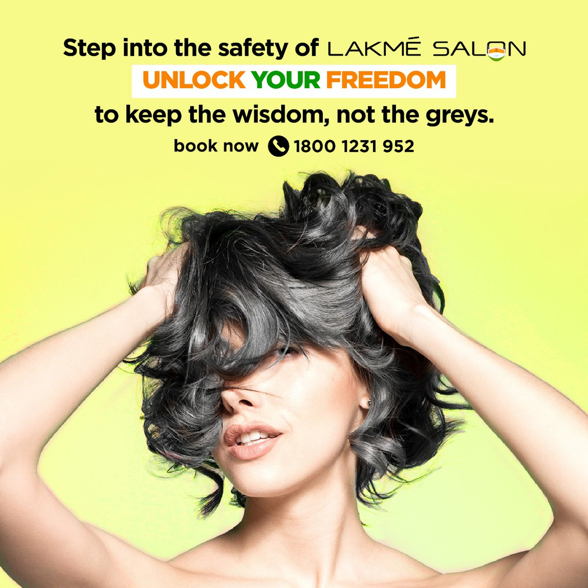 Are those greys making a comeback? While it's good to act your age, don't let salt & pepper take over your mane! Just step into the safety of Lakmé Salon and #UnlockYourFreedom from greys to get back your good hair days. 📞 us on 1800-123-1952 or download the Lakmé Salon App https://t.co/RU2nS9uTGB
