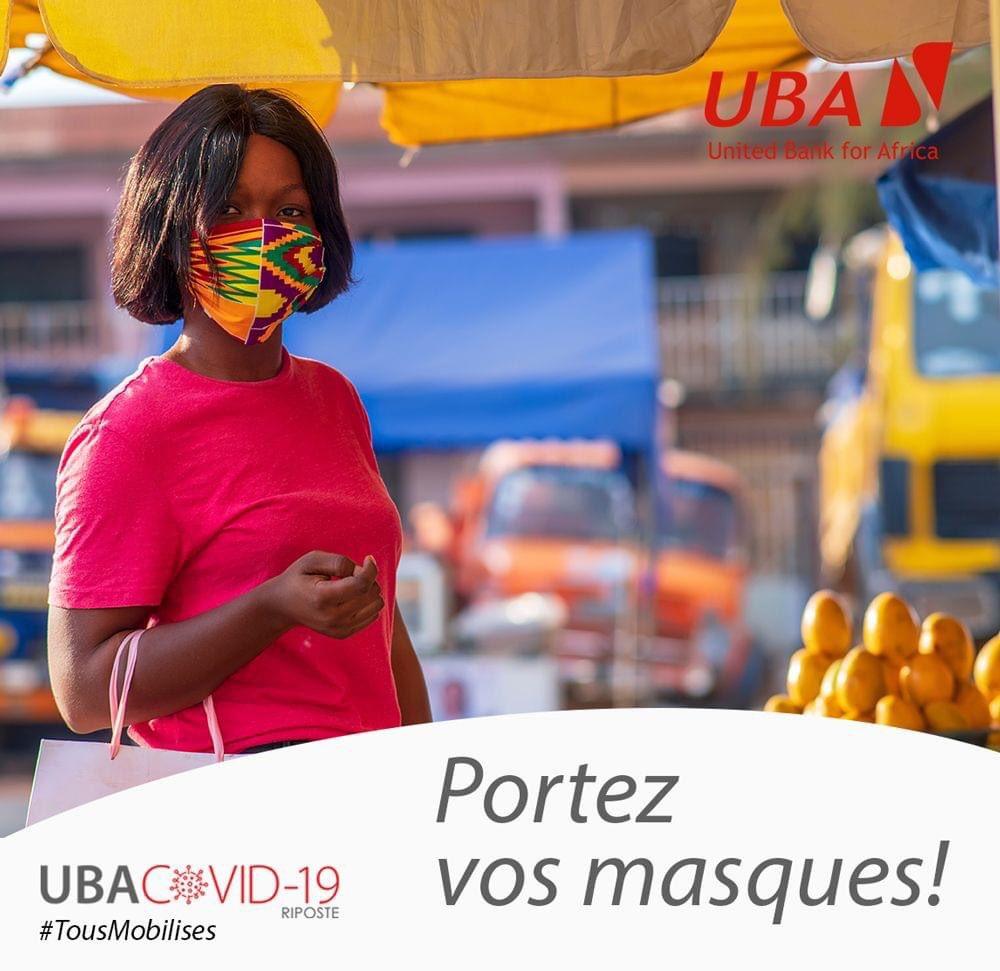#MercrediBienÊtre  N'oublions pas de continuer à respecter les mesures barrières. Portons nos masques pour nous protéger et protéger aussi les autres. #COVID19 #NousFaisonsFaceEnsemble #UBACares #UbaBénin #Santé #AfricasGlobalBank #wasexo #team229 #Banque #BienÊtre https://t.co/OnEI5OTdVT