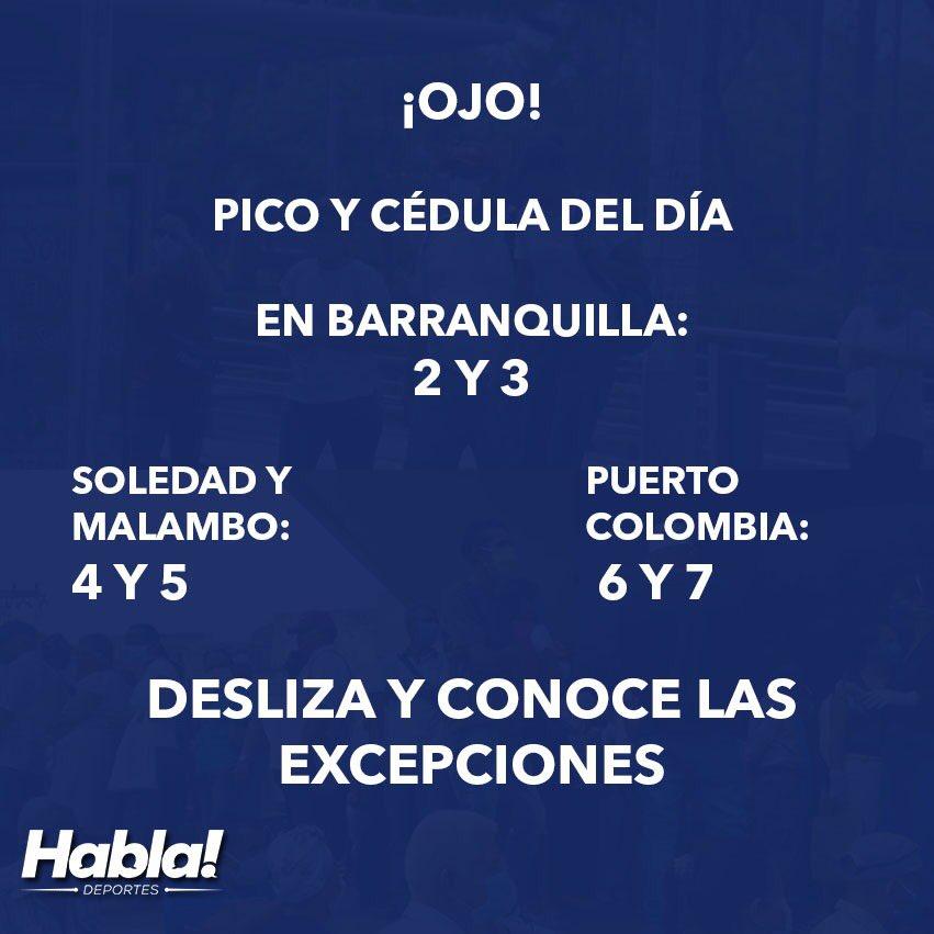 #PicoyCédula ¡Para que lo tengas en cuenta! Este es el pico y cédula de este día en Barranquilla y el Atlántico https://t.co/BSYJe4WHcY https://t.co/GyddXUn0Sj
