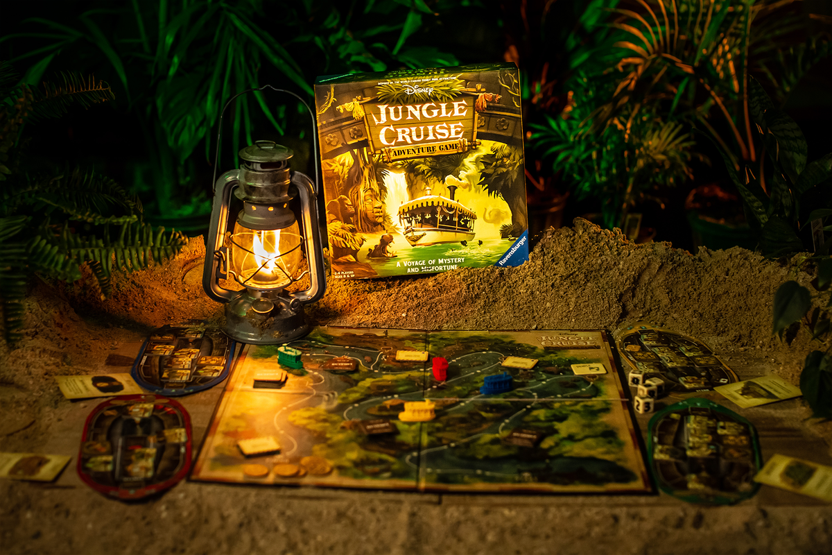 We are HUGE fans of Disney. We lots our minds working on this creative shoot for Jungle Cruise for Ravensburger. We even got to see the backside of water! #boardgames #boardgamephotos #thegamebocks #ravensburger #junglecruise pic.twitter.com/85APvT9Zez
