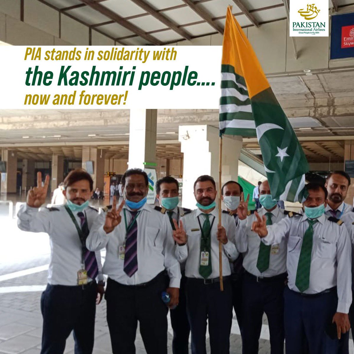 Kashmir is the lifeline of Pakistan!! This is why PIA stands in solidarity with the people of Kashmiri Now and Forever!!  #PIA #PIACares #KashmiriSolidarity #WeAreOne https://t.co/eKw05eKp7i