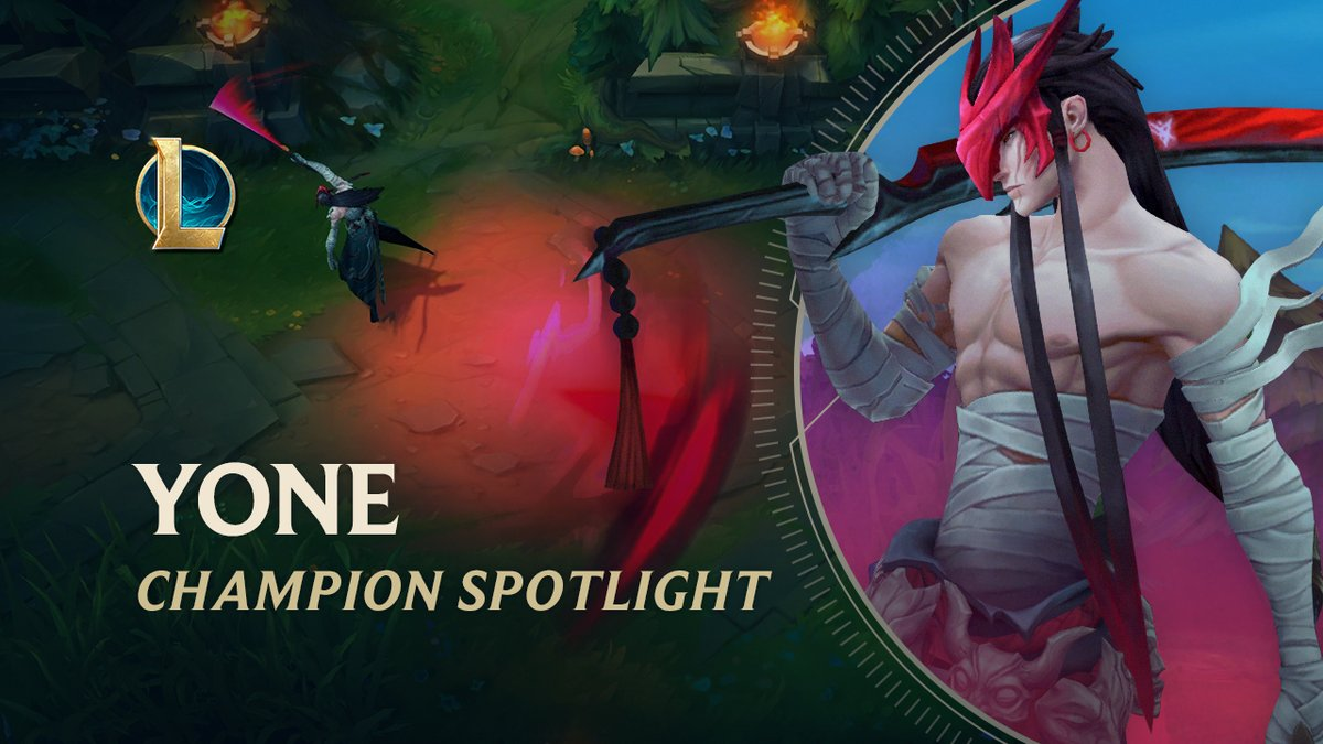 ⚔ One to cut, one to seal! ⚔ Yone, the spotlight is on you... Its time to show us what youre made of! #LoL 🗡