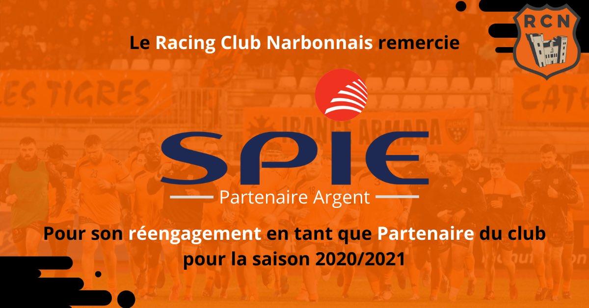 PARTENARIAT 📝  Le Racing Club Narbonnais remercie l'entreprise @SPIEgroup pour...