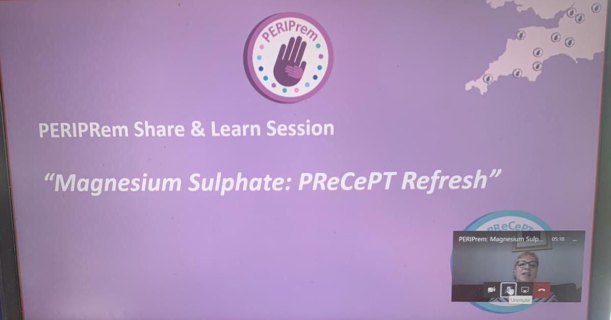 LIVE: the @peri_prem share & learn event on Antenatal Magnesium Sulphate hosted by the ever knowledgeable @AnnRemmers and @KarenLuyt sharing the work of @PReCePT_MgSO4 #magnesiumsulphate #qi @MenziesNoshin @sally_hedge @alessglover https://t.co/i2pzjQW9H1