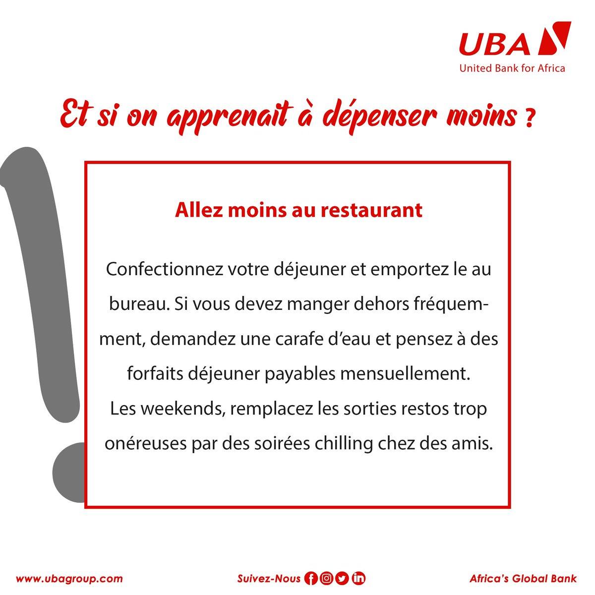 [Conseils]  C'est l'heure de la pause, tu vas payer combien pour manger ce midi ???  Astuce #4  #EducationFinanciere #IndependanceFinanciere #UBACares #AfricasGlobalBank https://t.co/tUivs4ZzB0