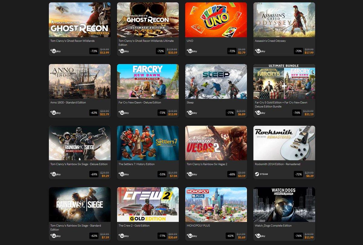 (PCDD) Ubisoft Publisher Sale via Fanatical. 2