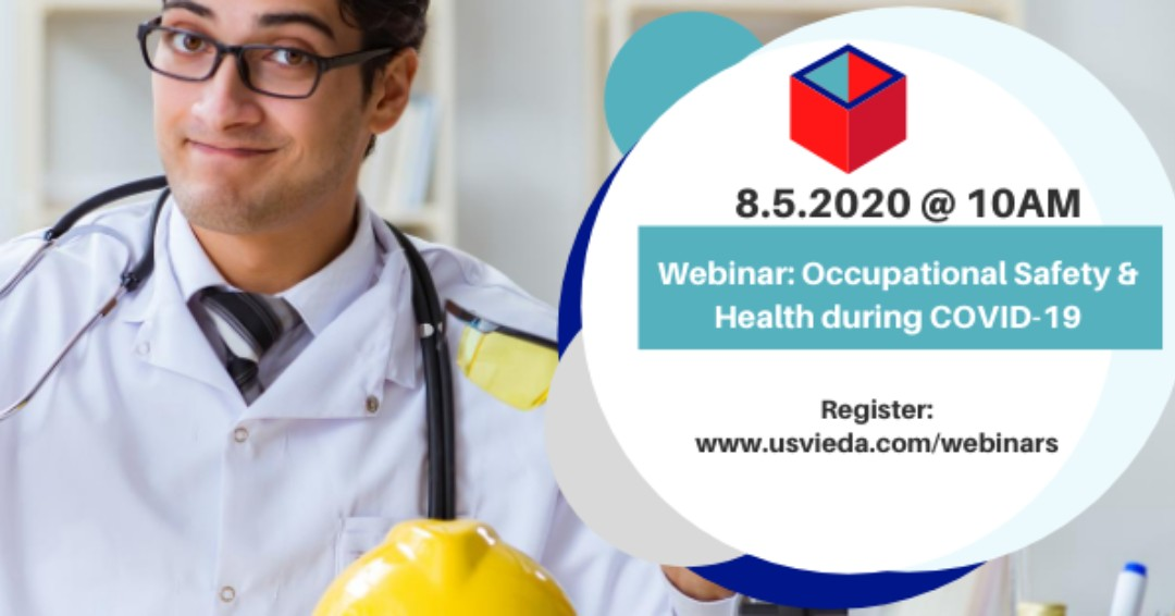 """Small businesses, register in advance for the upcoming webinar TODAY at 10am via Zoom on """"Occupational Health and Safety during COVID-19"""" in partnership with @UVICELL Safety in Paradise.   Register at:  http://ow.ly/Q5D250ARlE2  #USVIEDA #UVI #UVICELL #SafetyInParadise #SmallBiz pic.twitter.com/j301Eix0KE"""