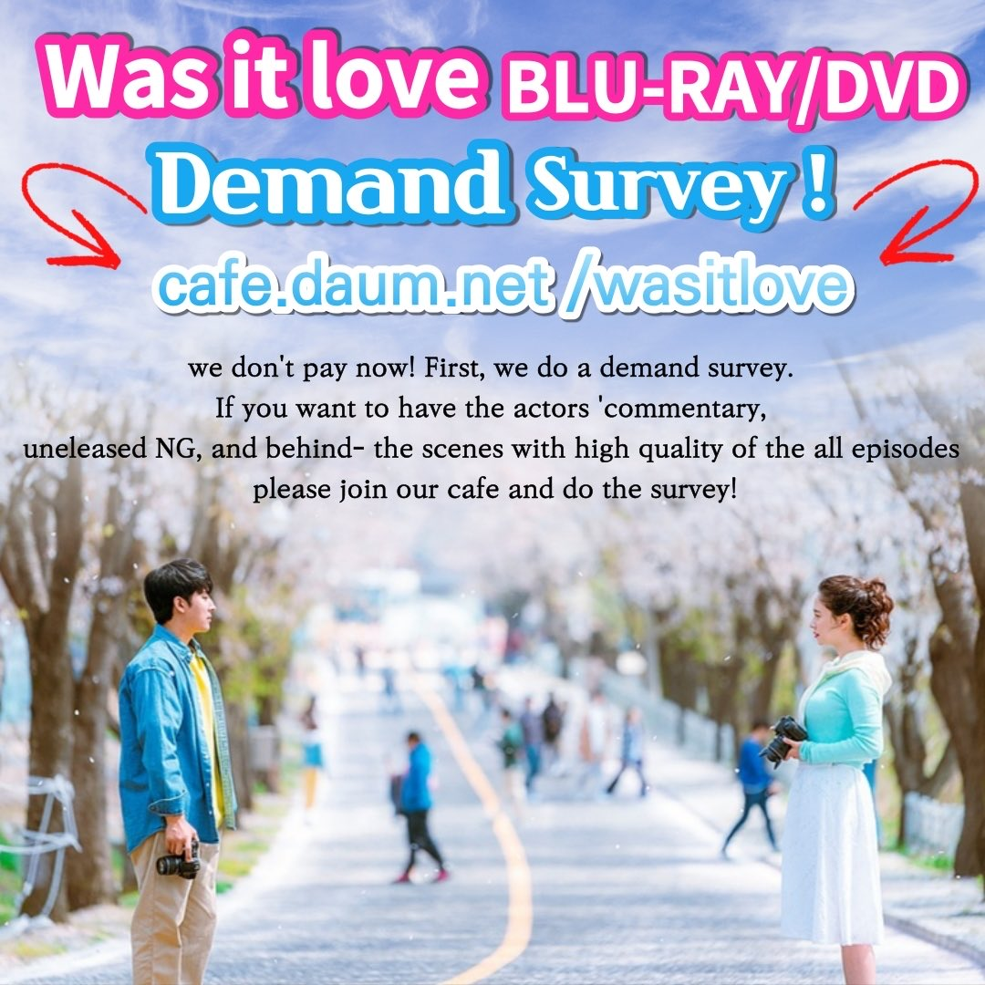 Korean TV show 'Was it love?' Cafe is opened for Blu-ray DVD. If you want to have the actors'commentary, bloopers and behind the scenes with high quality of all episodes, please join our cafe and do the survey. http://cafe.daum.net/wasitlove #songjihyo #sonhojun #wasitlove #blu_raypic.twitter.com/rEf0TagoMB