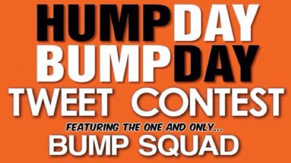 ⭐⭐🐫 TWEET CALL 🐫⭐⭐ Wednesday Hump Day - Bump Day Come bump an old tweet in need of another airing. Share an old classic or one that deserves some more love. Can be yours, someone elses funny, filthy, inspirational whatever. No theme. One per person. RTs for all!i