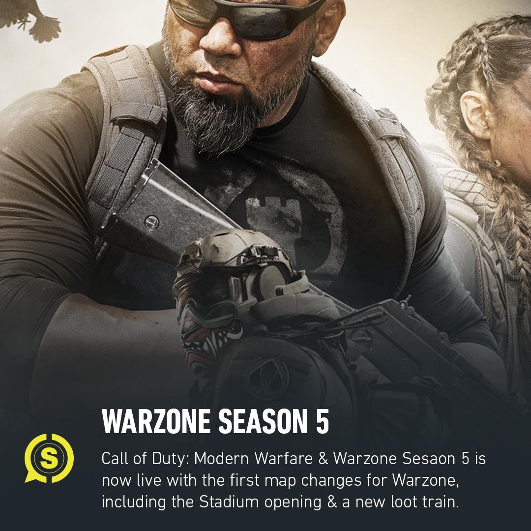 Season 5 has deployed in #Warzone. Gear up.