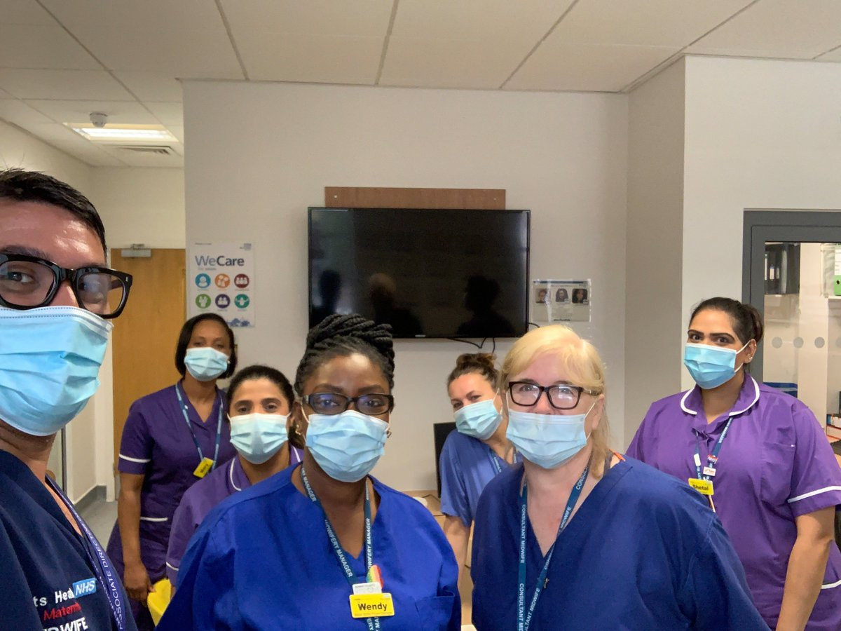 Very enjoyable morning on our maternity ward today with the 🌟@NUHmaternity senior team. Out relieving all maternity staff so that ward based teaching and breaks can be provided. We will be doing this weekly throughout August 🤰👶 @NHSBartsHealth @NewhamHospital https://t.co/GidDcoOkdH