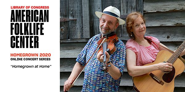 WATCH: On today's noontime Homegrown concert, American roots music duo Jay Ungar & Molly Mason, perform in concert. Aug 5 at noon ET on our Youtube channel & the American Folklife Center Facebook page -- don't miss it!  https://t.co/VmH0iIGbWs https://t.co/vAC6i7n5mM https://t.co/r9UZOZLzJR