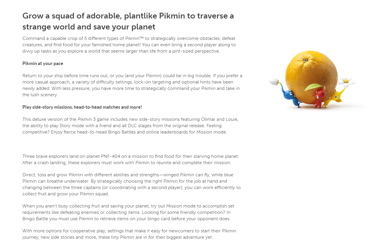 Pikmin 3 Deluxe Launches 10 30 Featuring Multiple Difficulty Modes New Side Story Missions Featuring Olimar Louie And All The Dlcs News Resetera