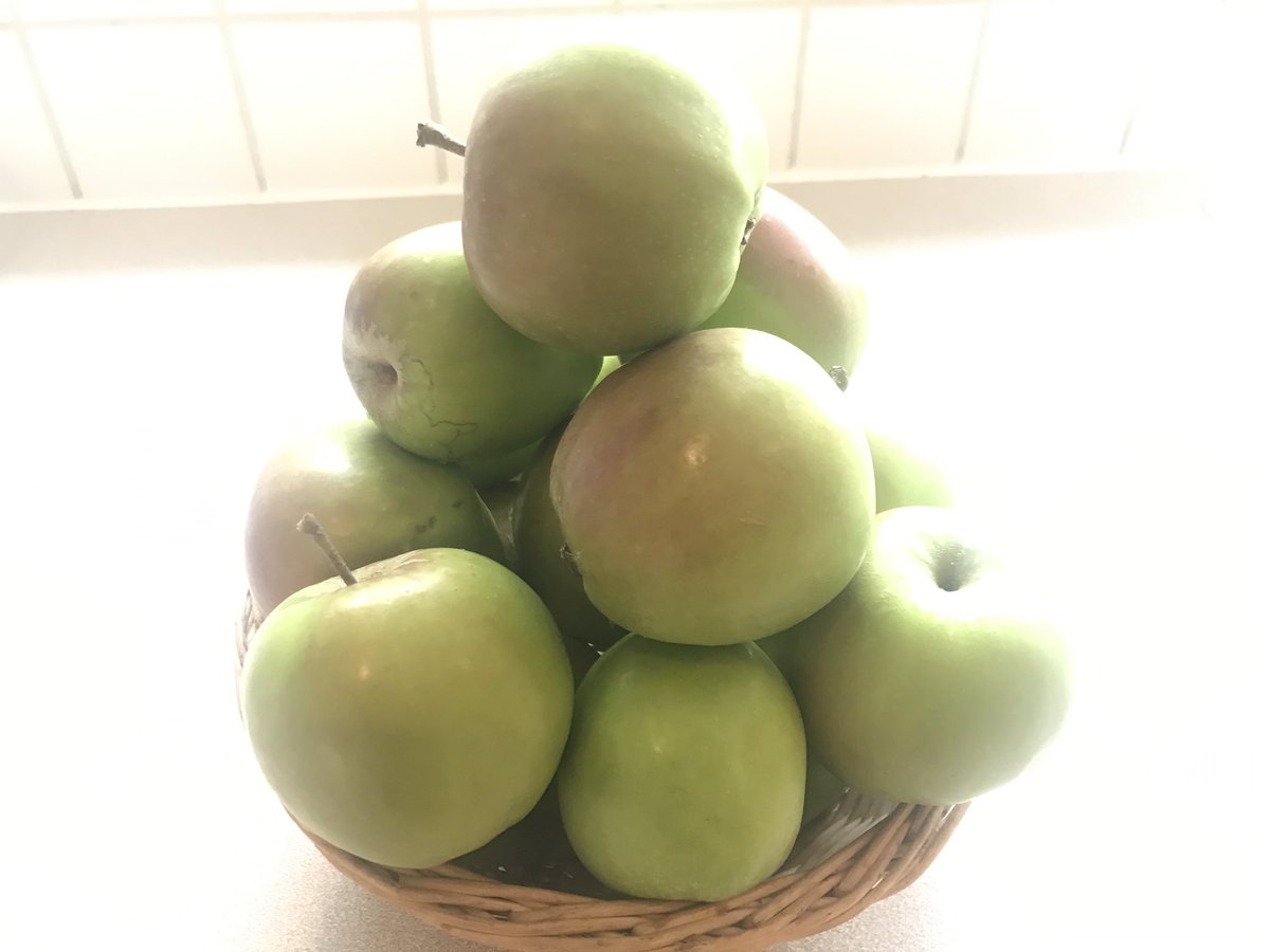 Some juicy apples from the tree this year #applecrumble #applepiepic.twitter.com/7WvLayD2fw