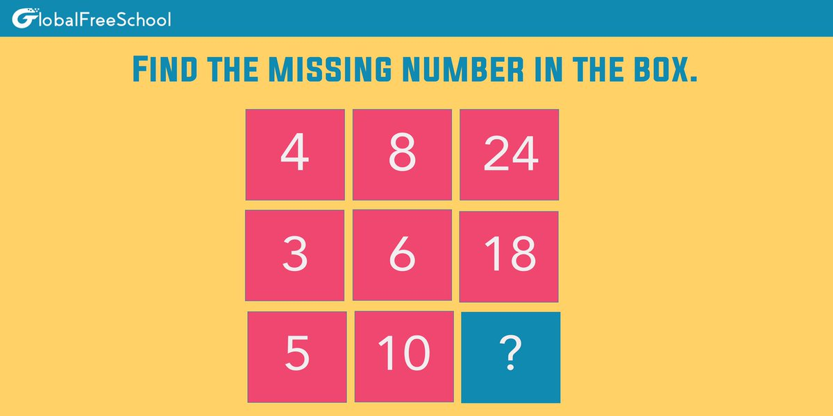 Think !! Think !! Think !!   Find out the missing number in the box !!   #puzzle #puzzles #jigsawpuzzle #puzzletime  #jigsaw #puzzlelover #pieces #puzzleaddict #rubik #fun #game #rubikscube #cube #jigsawpuzzles #mainan #brainteaser #art #puzzles #rubiks #riddle #riddles #gamepic.twitter.com/Y56edoKDUN