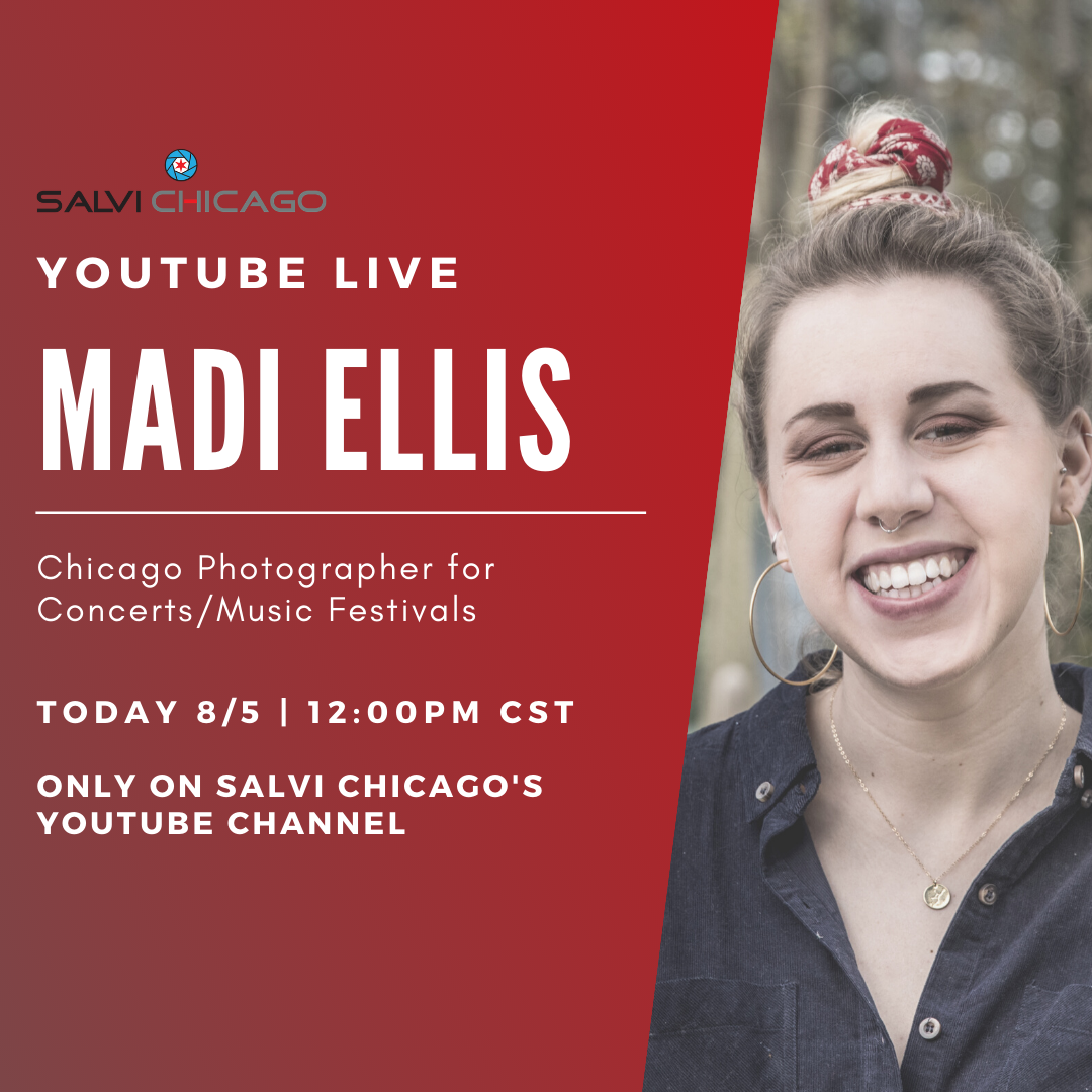 More #LollaLive continues TODAY at 12:00PM CST on Salvi Chicago's YouTube channel with Madi Ellis, a Chicago live music photographer 🎶📷 #lolla #lollapalooza #festival #festivalseason #chicago #chicagomusic LINK TO WATCH ➞ https://t.co/LHfI4iyYb2 https://t.co/oKVFZVskPa