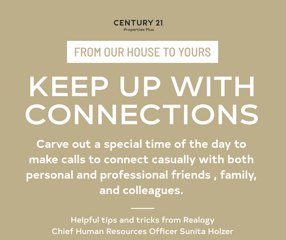 Keep up with your connections! Always remember to carve out some special time to connect! We aren't alone in this...it's important to stay connected!  #reachout #fromourhousetoyours #keepupwithconnections #helpfultipsandtricks #charlestonscrealestate https://t.co/ZEBEZzbrSY
