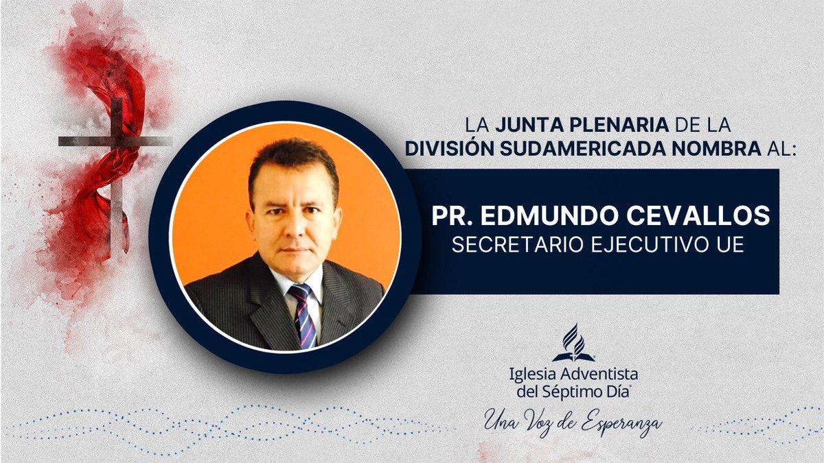 🔴 #Último La Junta Plenaria  de la División Sudamericana, reunido hoy 05 de Agosto del 2020, votó el nombramiento del: @Pr_Cevallos como Secretario Ejecutivo de la Unión Ecuatoriana. Dios siga bendiciendo a su iglesia. Pedimos sus oraciones 🙏 https://t.co/xKW5pBt571