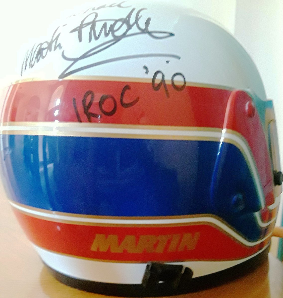 REMEMBER WHEN? WEDNESDAY: @F1 's increasing 🇺🇸 @ESPN viewership has more enjoying @MBrundleF1 's entertaining @SkySportsF1 commentary. I arranged an invite for Martin in 1990 IROC. He won Cleveland; was 3d in points. He gave me his signed helmet. More @SilverstoneUK this weekend. https://t.co/P0Tqjq5bv4