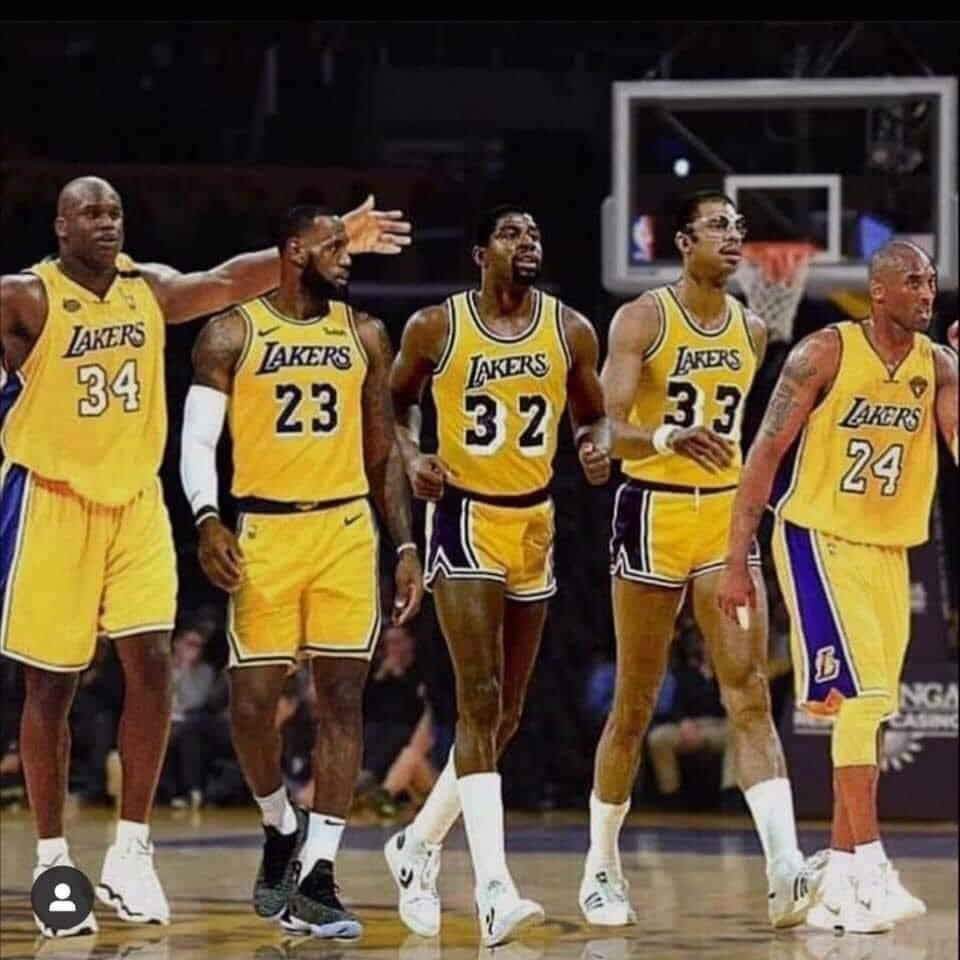 No other franchise all time players could beat this line up #lakers pic.twitter.com/Sx6emkWL4r