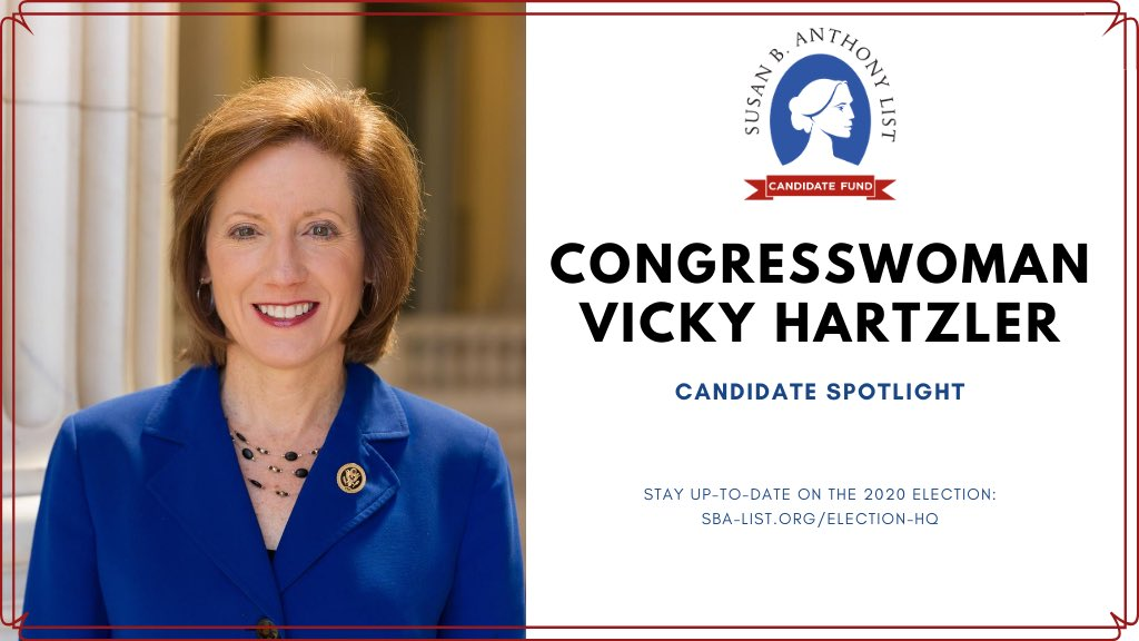 . @VickyH4Congress is Chairwoman of the House Values Action Team and has helped lead the charge for life-affirming legislation and policies! https://t.co/bzeglOwnYM