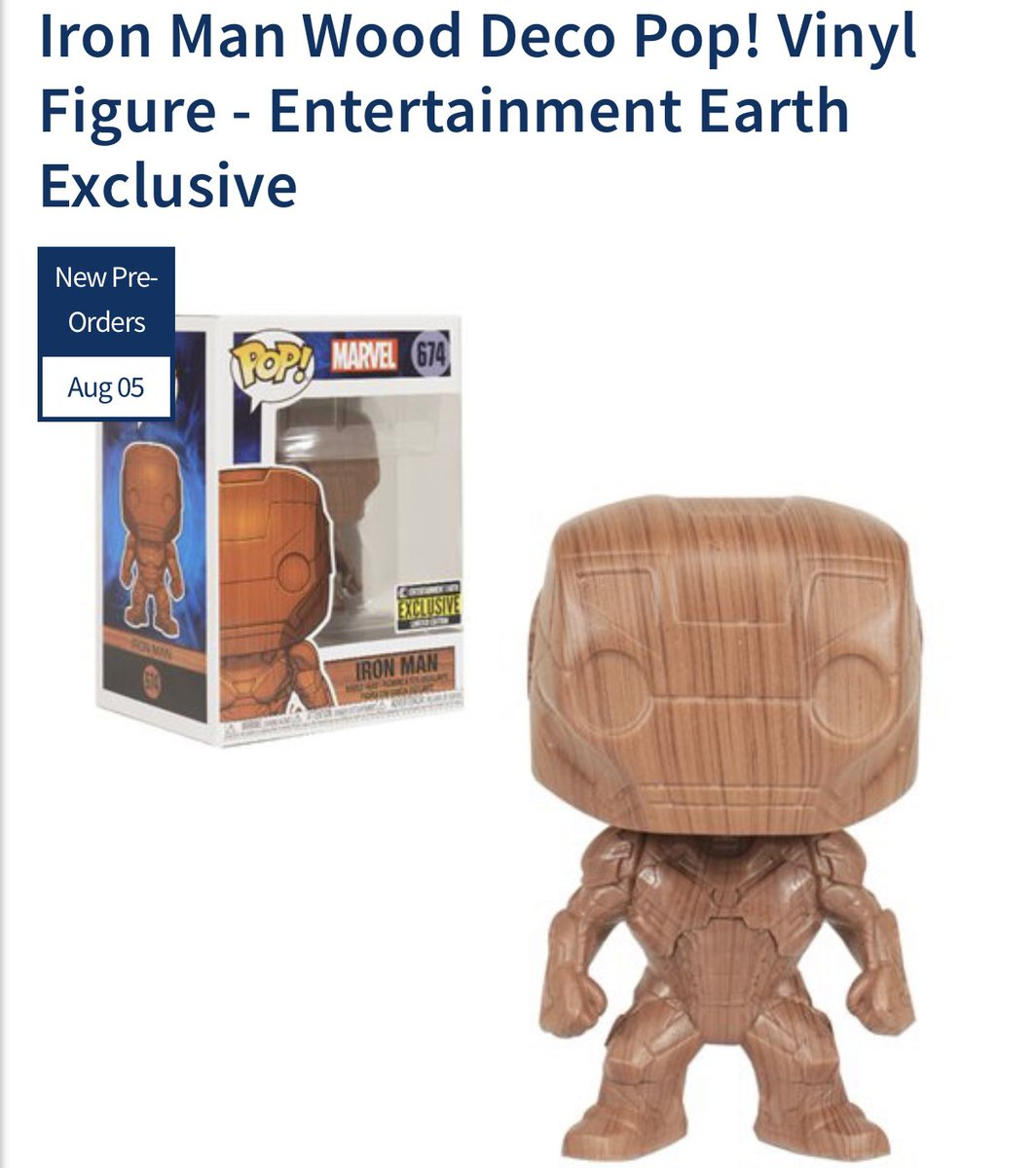 Preorder Now: Entertainment Earth exclusive Wood Deco Iron Man! .