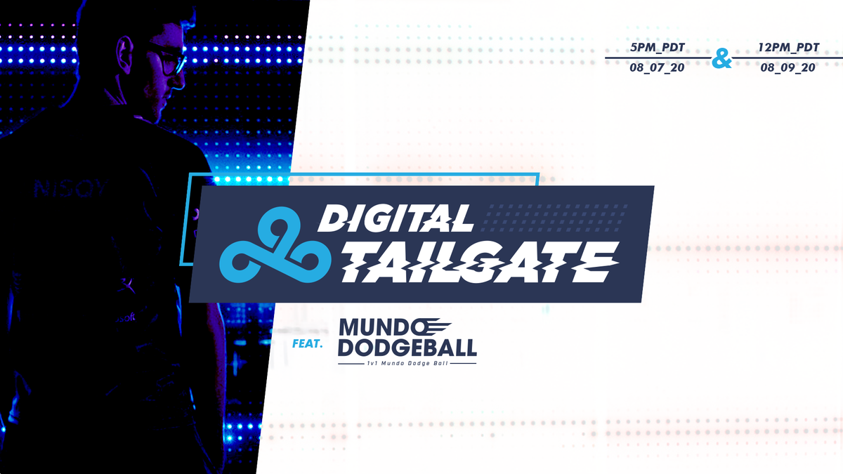 The end of the summer split is almost here! Come join the #C9Fam on August 7 at 5PM PDT & August 9 at 12PM PDT for the last couple of #C9LoL digital tailgates before playoffs! 🎮 c9.gg/tailgate