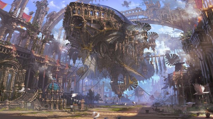 If you visit the East you'll find a hidden gem. A City home to the persuit of mass Creations of Mechanical Marvel's, and occasionally weapons of war. With the city located in the Neutral continent of Arcadia.  #Steampunk #Clockwork #Anime #AnimeArt #AnimeFanart