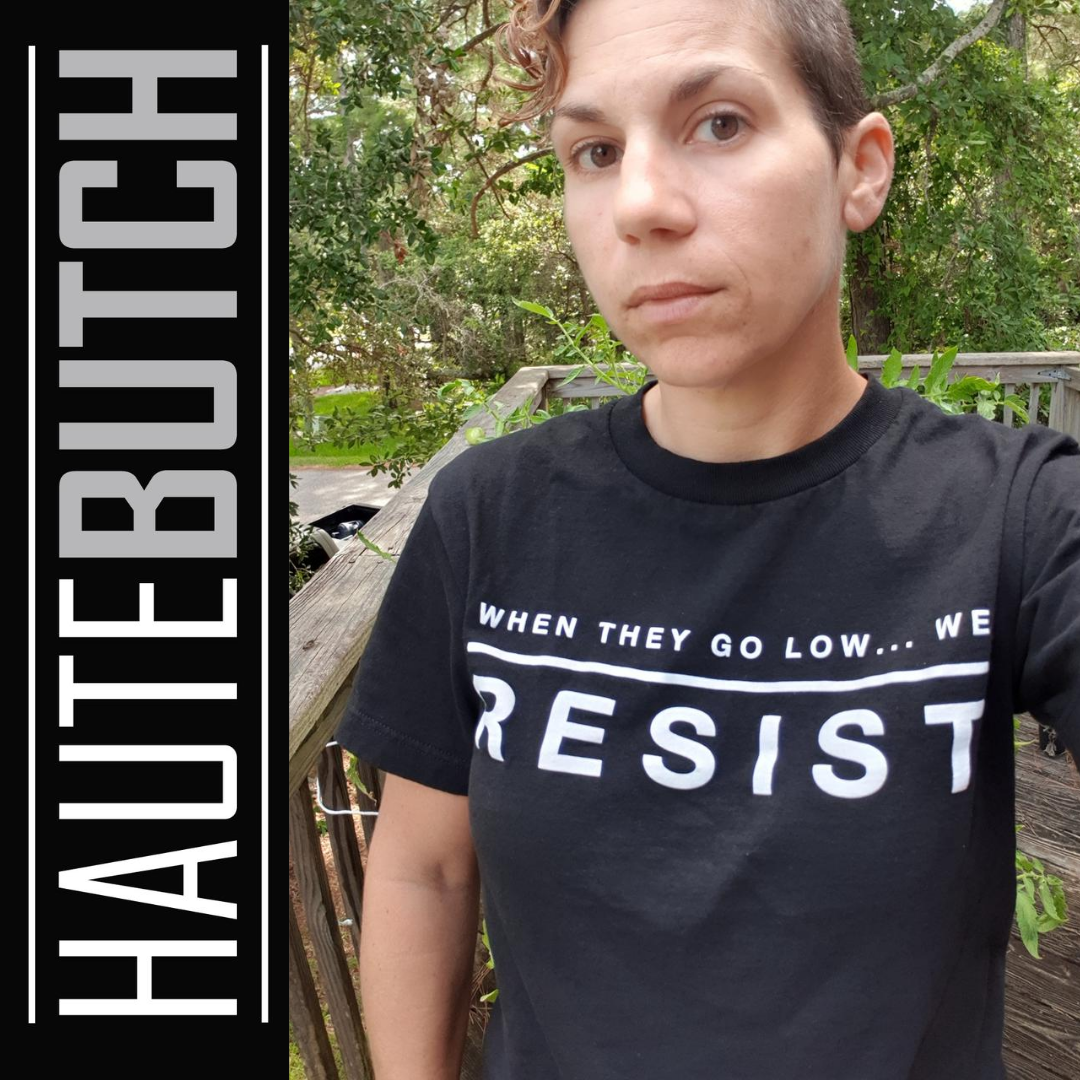 S/O to Alexis showing off her new RESIST Tee! Lookin haute!!   https://bit.ly/2Dcchz2 #LGBTQIbaes #fashionaddict #tomboy #Resistpic.twitter.com/XjBWATtcEF