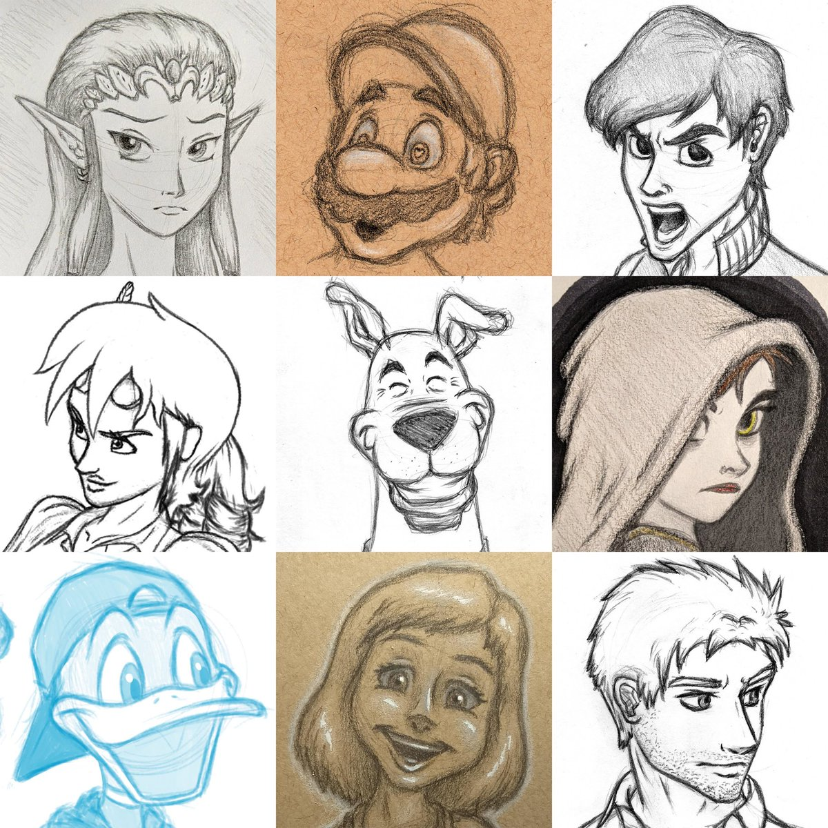 Have some more faces. Now in sketch edition!  #faceyourart #faceyourart2020 #faceyourartchallenge #IndieArtists #keepmovingforward pic.twitter.com/3weXkpAaTi