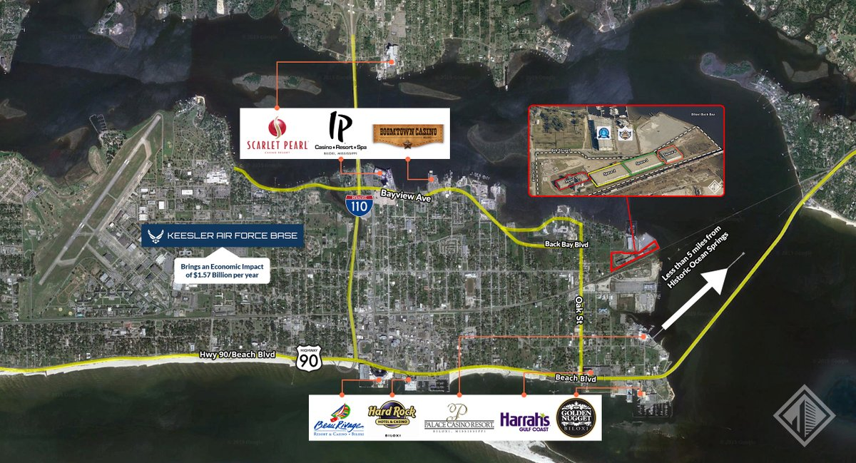 Southeast Commercial Real Estate | 228.276.2700  173,560 SF of #Industrial #Warehouse Space 18.78 Acres On #BiloxiBackBay with ~4' to ~8' of Depths Potential Rail Access & Spur Large Lay Down Yard Available #cre #BiloxiMS  Call for more info! http://ow.ly/eMRW50yE2ijpic.twitter.com/kN9rJvxAjs