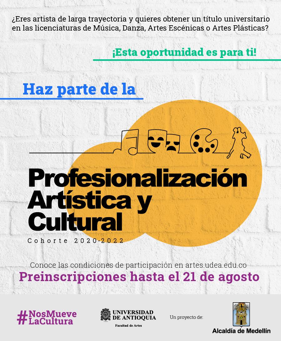 🎭🎼Artistas empíricos de #Medellín con larga trayectoria y experiencia en formación, podrán aspirar a un título profesional en las licenciaturas en Música, Danza, Artes Escénicas y Artes Plásticas de la #UdeA.  📲 Artículo #UdeANoticias: https://t.co/TMANHG3Eu2 https://t.co/WkcVYw1sQK