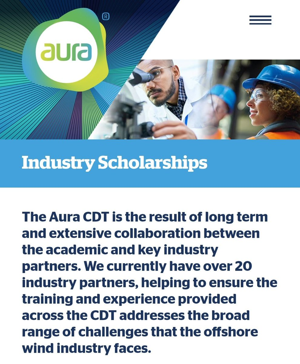 Just over a week left to apply for @UniOfHull @EPSRC @NERCscience Industry PhD Scholarships @_aurainnovation AURA CDT in Offshore Wind and Environment. 4-year PhD scholarships with @ORECatapult and @SiemensGamesa - see: https://t.co/CuQgNNawg0 https://t.co/FMPjAdzxw1