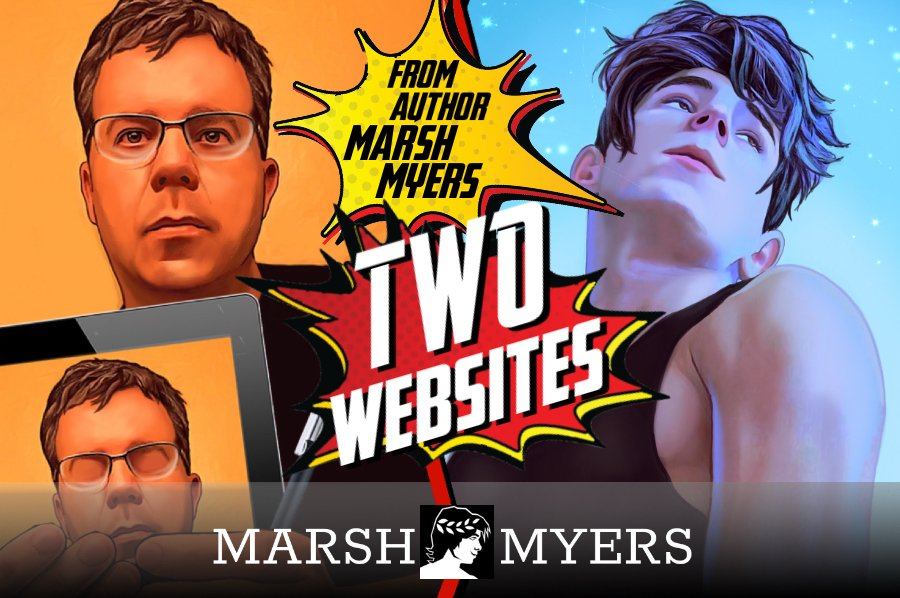 TWO WEBSITES MEANS TWICE THE FUN!  http://marshmyers.com: Provides features about #writing #books #YAlit #art #film #cinema #nerdstuff plus updates on my novels.  http://darkandfevereddreams.com: Is a continuing #supernatural #YA web book featuring original art and video.pic.twitter.com/VsRYFayHQH