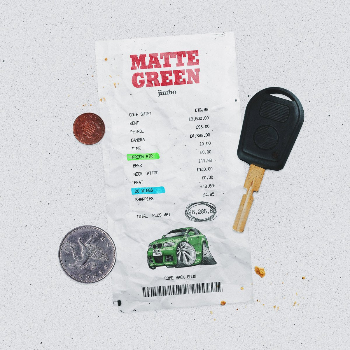 'MATTE GREEN' dropping this Sunday on all platforms (including a music video on YouTube)