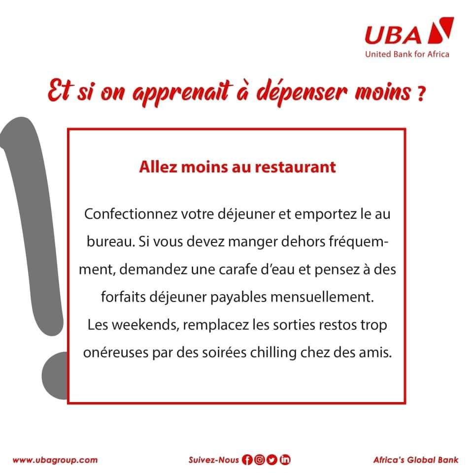 #INFOS #UBA  [Conseils]  C'est l'heure de la pause, tu vas payer combien pour manger ce midi ???  Astuce #4  #EducationFinanciere #IndependanceFinanciere #UBACares #AfricasGlobalBank https://t.co/Dgil0sWCx4